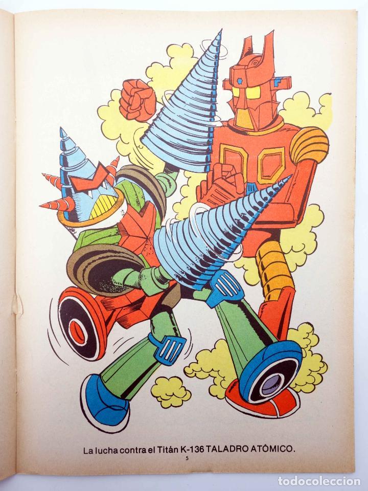 Tebeos: COLOREA A MAZINGER Z, EL ROBOT DE LAS ESTRELLAS 1 2 3 4. COMPLETA (J. Sanchís) Ediprint, 1978. OFRT - Foto 5 - 195216085