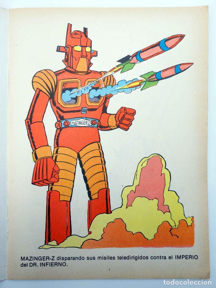 Tebeos: COLOREA A MAZINGER Z, EL ROBOT DE LAS ESTRELLAS 1 2 3 4. COMPLETA (J. Sanchís) Ediprint, 1978. OFRT - Foto 7 - 195216085