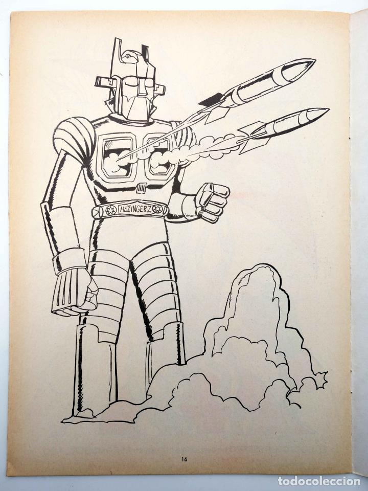 Tebeos: COLOREA A MAZINGER Z, EL ROBOT DE LAS ESTRELLAS 1 2 3 4. COMPLETA (J. Sanchís) Ediprint, 1978. OFRT - Foto 8 - 195216085