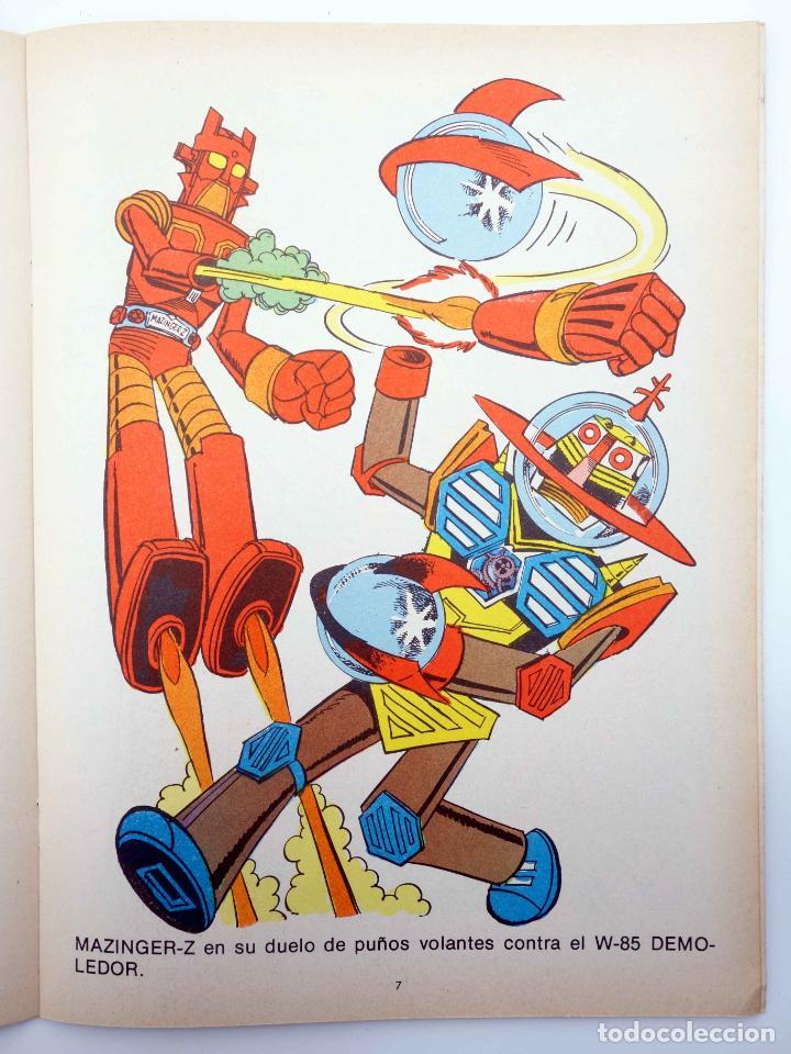 Tebeos: COLOREA A MAZINGER Z, EL ROBOT DE LAS ESTRELLAS 1 2 3 4. COMPLETA (J. Sanchís) Ediprint, 1978. OFRT - Foto 9 - 195216085