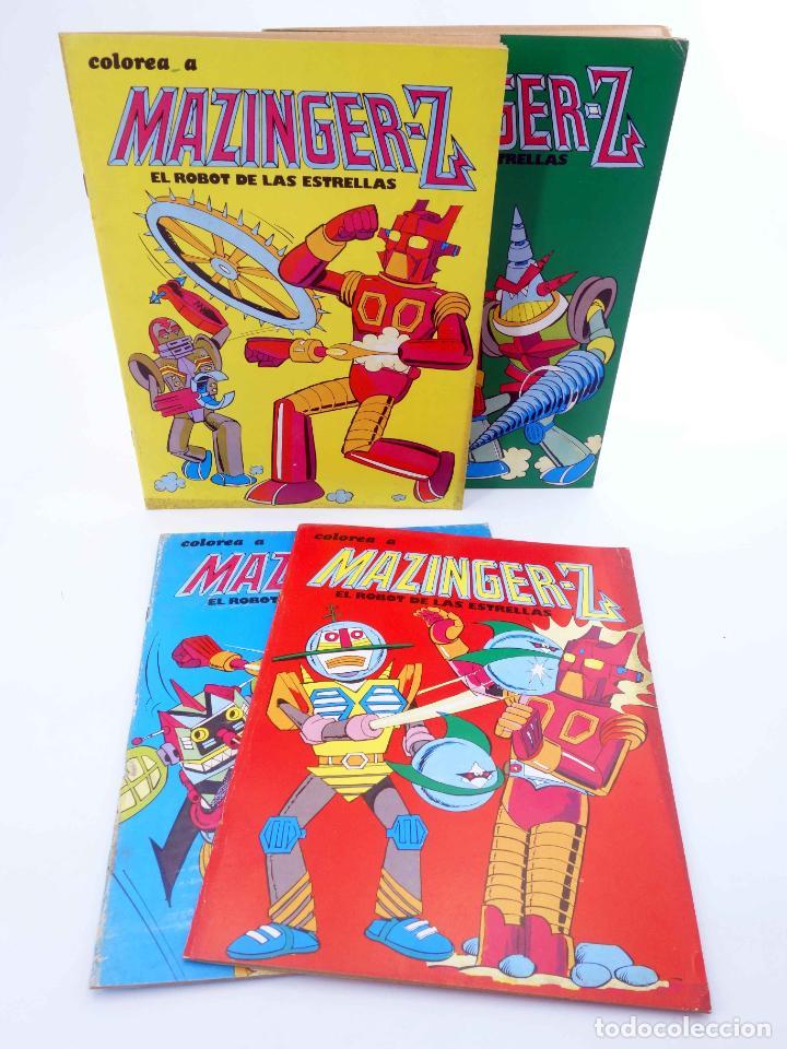COLOREA A MAZINGER Z, EL ROBOT DE LAS ESTRELLAS 1 2 3 4. COMPLETA (J. SANCHÍS) EDIPRINT, 1978. OFRT (Tebeos y Comics - Valenciana - Otros)