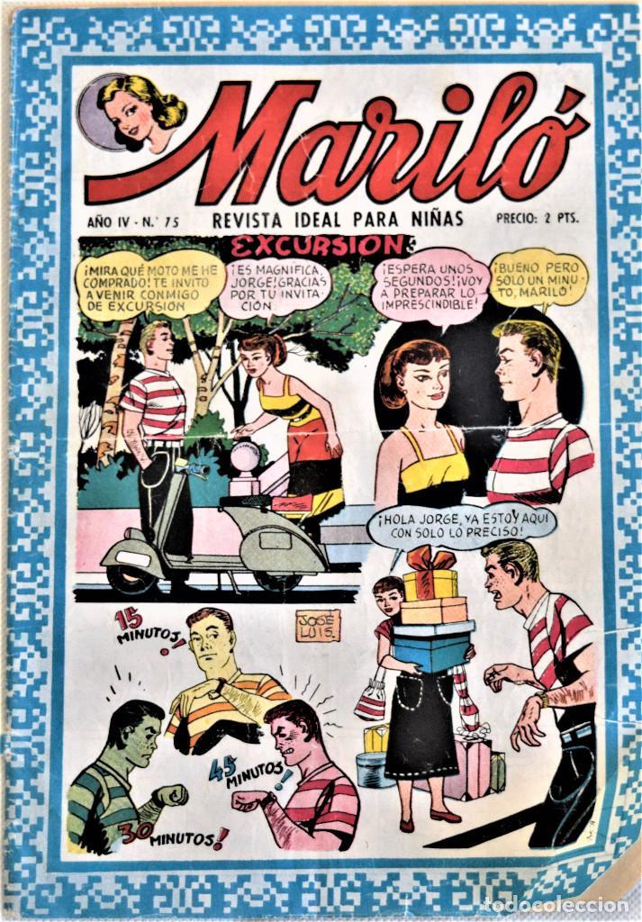 MARILÓ Nº 75 - ADITORIAL VALENCIANA - AÑO IV - TAPA BLANDA (Tebeos y Comics - Valenciana - Otros)