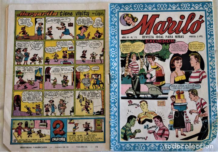 Tebeos: MARILÓ Nº 75 - ADITORIAL VALENCIANA - AÑO IV - TAPA BLANDA - Foto 2 - 195273701