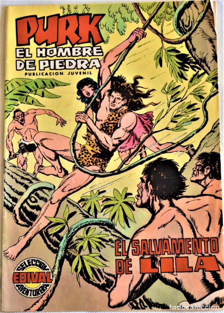PURK EL HOMBRE DE PIEDRA Nº 62 - EL SALVAMENTO DE LILA - SELECCIÓN AVENTURA EDIVAL - TAPA BLANDA (Tebeos y Comics - Valenciana - Purk, el Hombre de Piedra)