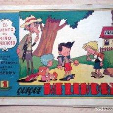 Tebeos: QUIQUE MELINDRE Nº 21 ORIGINAL - EL CUENTO DEL NIÑO CAPRICHOSO. Lote 195328830