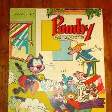 Tebeos: PUMBY : PUBLICACIÓN INFANTIL. AÑO VII ; Nº 215. Lote 195382560
