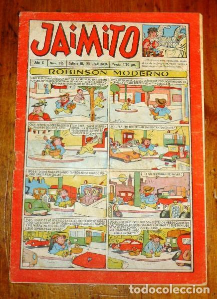 JAIMITO. AÑO X ; Nº 316. - [1955] (Tebeos y Comics - Valenciana - Jaimito)