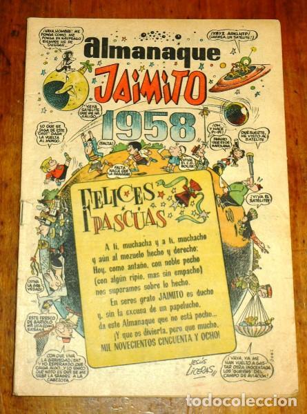 JAIMITO : REVISTA PARA TODOS. ALMANAQUE 1958 (Tebeos y Comics - Valenciana - Jaimito)