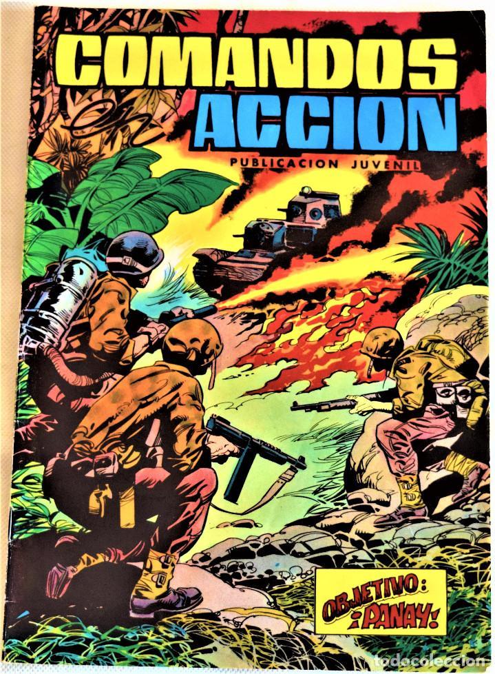 COMANDOS ACCION Nº 9 - OBJETIVO:PANAY - EDITORA VAENCIANA - AÑO 1980 - TAPA BLANDA (Tebeos y Comics - Valenciana - Otros)