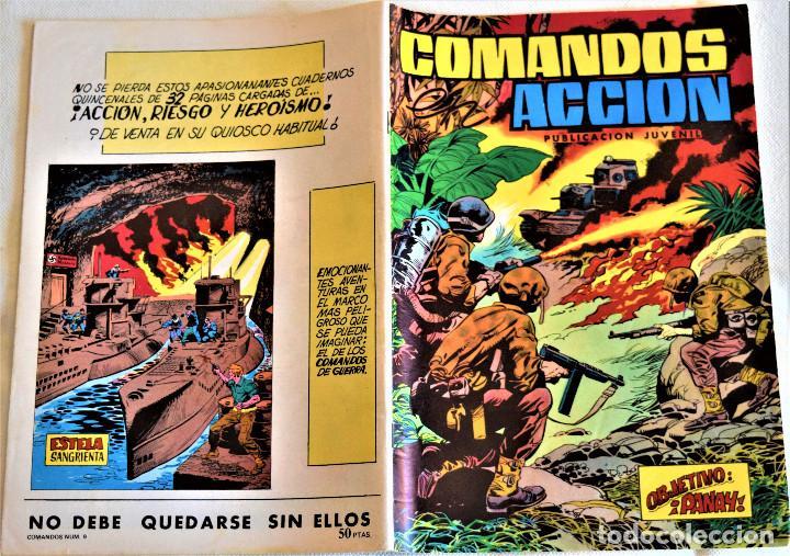 Tebeos: COMANDOS ACCION Nº 9 - OBJETIVO:PANAY - EDITORA VAENCIANA - AÑO 1980 - TAPA BLANDA - Foto 2 - 195383318