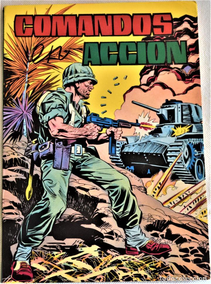 COMANDOS ACCION Nº 42, 43, 44 Y 45 - RETAPADO Nº 6 - TAPA BLANDA - EDITORIAL VALENCIANA (Tebeos y Comics - Valenciana - Otros)