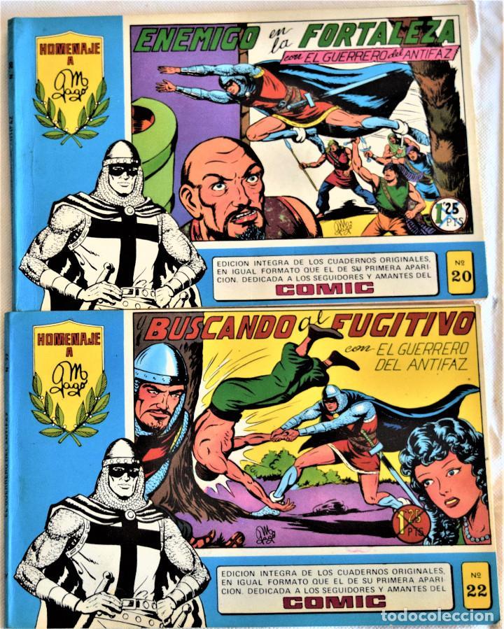 EL GUERRERO DEL ANTIFAZ Nº 20 Y 22 - AÑO 1981 - EDITORIAL VALENCIANA - TAPA BLANDA (Tebeos y Comics - Valenciana - Guerrero del Antifaz)