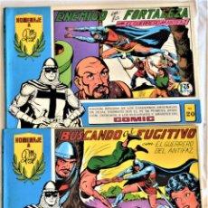 Tebeos: EL GUERRERO DEL ANTIFAZ Nº 20 Y 22 - AÑO 1981 - EDITORIAL VALENCIANA - TAPA BLANDA. Lote 195386290