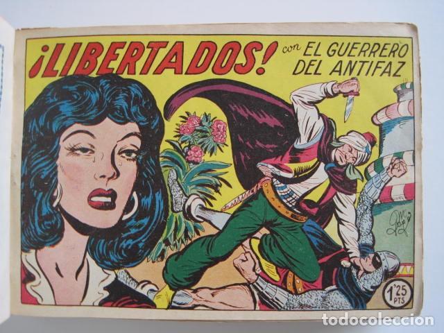 Tebeos: GUERRERO DEL ANTIFAZ. CUADERNOS 251-300, 1,25 PTAS. EDITORIAL VALENCIANA. VER FOTOGRAFÍAS. - Foto 10 - 195417083