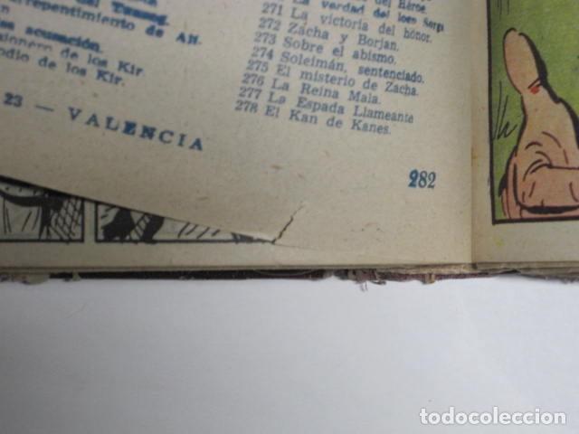 Tebeos: GUERRERO DEL ANTIFAZ. CUADERNOS 251-300, 1,25 PTAS. EDITORIAL VALENCIANA. VER FOTOGRAFÍAS. - Foto 19 - 195417083
