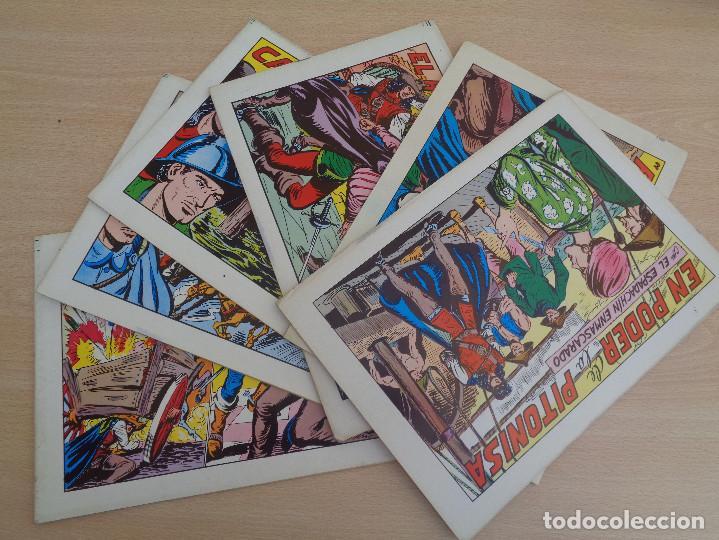 LOTE DE 6 EJEMPLARES EL ESPADACHÍN ENMASCARADO. EDITA VALENCIANA 1981 (Tebeos y Comics - Valenciana - Espadachín Enmascarado)
