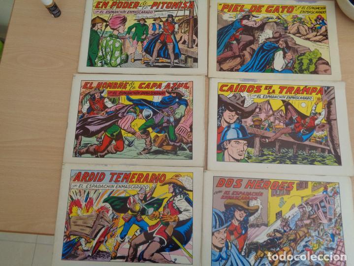 Tebeos: Lote de 6 ejemplares El Espadachín Enmascarado. Edita Valenciana 1981 - Foto 2 - 195422637