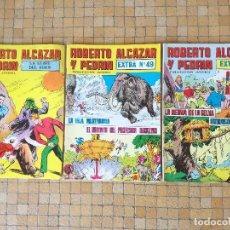 Tebeos: LOTE 3 TEBEOS ROBERTO ALCAZAR Y PEDRIN EXTRA Nº 10 - 49 - LA LLAVE DEL EDEN. Lote 195429658