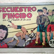 Tebeos: SECUESTRO FINGIDO CON LA PANDILLA DE LOS SIETE - ORIGINAL VALENCIANA Nº 19. Lote 195442312