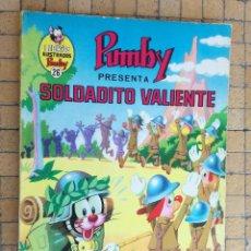 Tebeos: LIBROS ILUSTRADOS PUMBY - Nº 26 - SOLDADITO VALIENTE - VALENCIANA - 1970. Lote 195451966