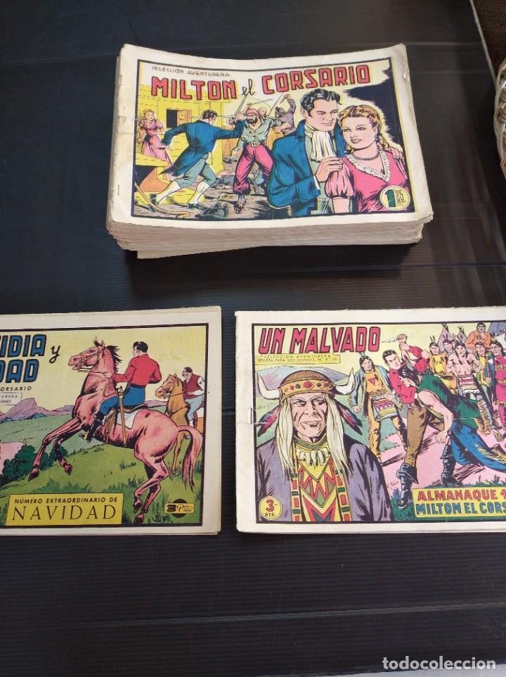LOTAZO DE LOS 80 PRIMEROS NÚMEROS DE MILTON EL CORSARIO ORIGINALES (Tebeos y Comics - Valenciana - Otros)