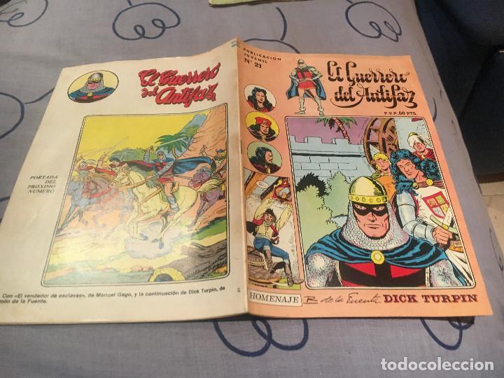 EL GUERRERO DEL ANTIFAZ, SERIE INÉDITA - Nº21 UNA FAMILIA SINIESTRA - EDITORIAL VALENCIANA (Tebeos y Comics - Valenciana - Guerrero del Antifaz)