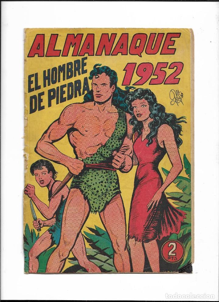 EL HOMBRE DE PIEDRA COLECCIÓN COMPLETA SON 10 ALMANAQUES ORIGINALES DEL AÑO 1952 AL 1976 NUEVOS (Tebeos y Comics - Valenciana - Purk, el Hombre de Piedra)