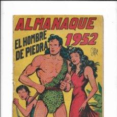 Tebeos: EL HOMBRE DE PIEDRA COLECCIÓN COMPLETA SON 10 ALMANAQUES ORIGINALES DEL AÑO 1952 AL 1976 NUEVOS. Lote 195551026