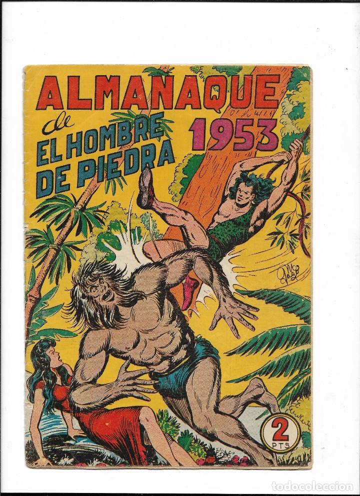 Tebeos: El Hombre de Piedra Colección Completa son 10 Almanaques Originales del Año 1952 al 1976 nuevos - Foto 3 - 195551026