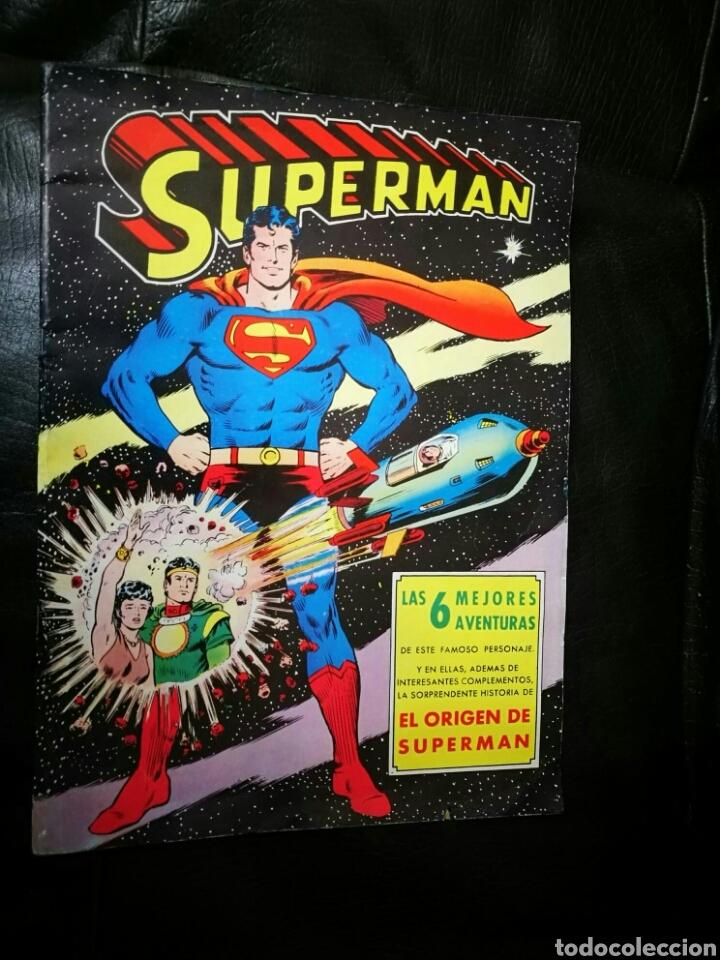 SUPERMAN ALBUN GIGANTE EDITORIAL VALENCIANA 6 MEJORES AVENTURAS (Tebeos y Comics - Valenciana - Otros)