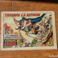 Tebeos: EL ESPADACHIN ENMASCARADO Nº 87 ALMANAQUE 1954 EDITORIAL VALENCIANA ORIGINAL. Lote 196077298