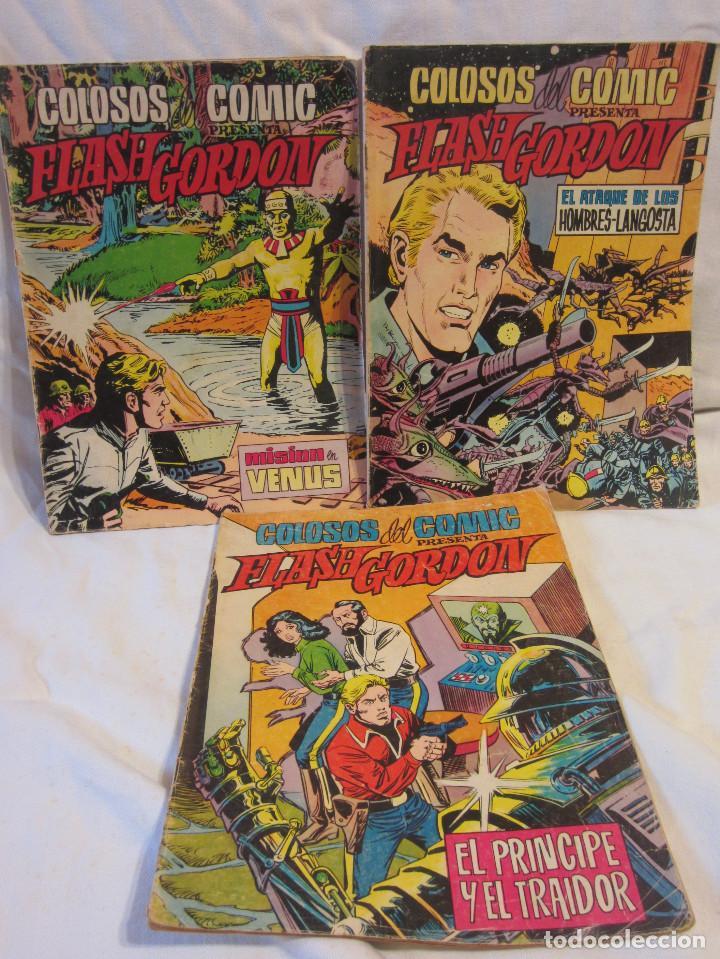 COLOSOS DEL COMIC - FLASH GORDON NUMEROS 39, 45 Y 70 (Tebeos y Comics - Valenciana - Colosos del Comic)