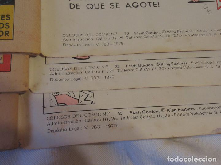 Tebeos: Colosos del Comic - Flash Gordon numeros 39, 45 y 70 - Foto 14 - 196215067