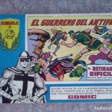 Tebeos: VALENCIANA - EL GUERRERO DEL ANTIFAZ NUM. 98 ( ULTIMO ). HOMENAJE A M.GAGO. MUY BUEN ESTADO. Lote 196280372