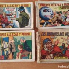 Tebeos: GRAN LOTE DE 96 TEBEOS ORIGINALES DE ROBERTO ALCAZAR Y PEDRIN. EDITORIAL VALENCIANA.. Lote 196369538