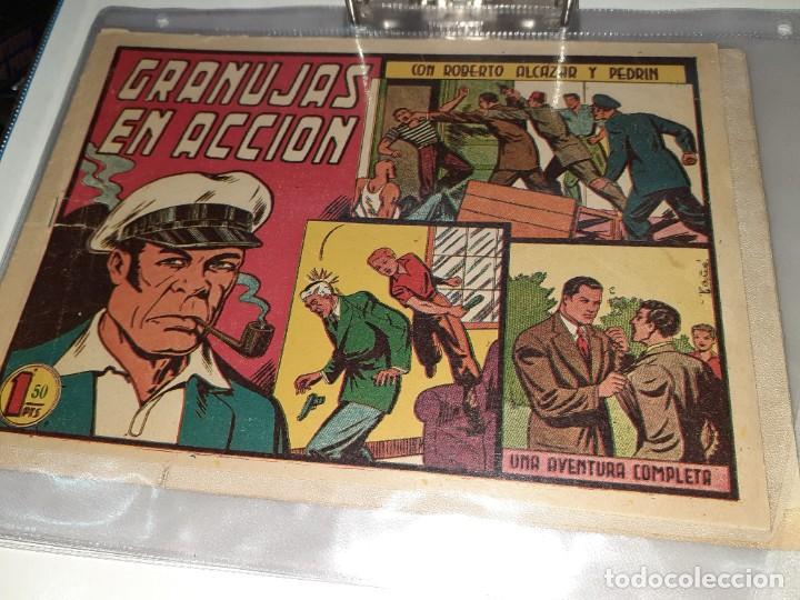 Tebeos: Lote de 68 tebeos Roberto Alcazar y Pedrín.Originales años 50.Ed.Valenciana. - Foto 5 - 196930436