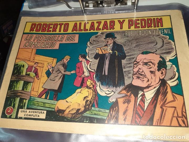 Tebeos: Lote de 68 tebeos Roberto Alcazar y Pedrín.Originales años 50.Ed.Valenciana. - Foto 8 - 196930436