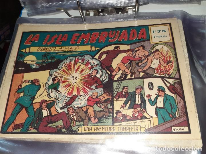 Tebeos: Lote de 68 tebeos Roberto Alcazar y Pedrín.Originales años 50.Ed.Valenciana. - Foto 9 - 196930436