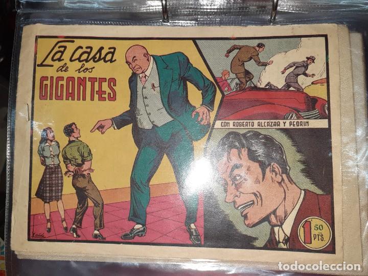 Tebeos: Lote de 68 tebeos Roberto Alcazar y Pedrín.Originales años 50.Ed.Valenciana. - Foto 15 - 196930436