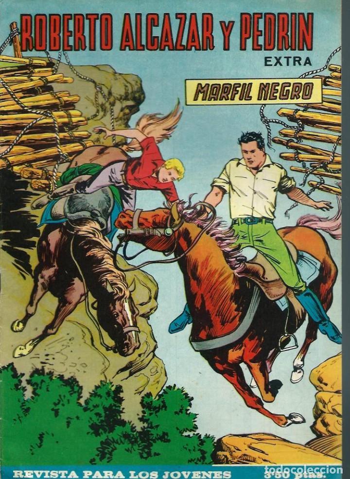 ROBERTO ALCAZAR Y PEDRIN EXTRA Nº 47 - MARFIL NEGRO - VALENCIANA 1967 - ORIGINAL (Tebeos y Comics - Valenciana - Roberto Alcázar y Pedrín)