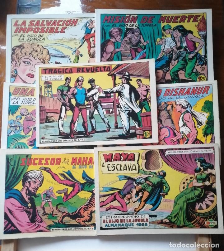 7 TOMOS DEL HIJO DE LA JUNGLA. (Tebeos y Comics - Valenciana - Hijo de la Jungla)