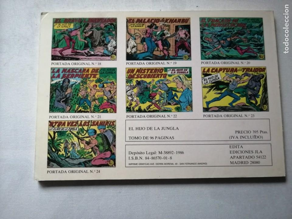 Tebeos: 7 TOMOS DEL HIJO DE LA JUNGLA. - Foto 12 - 197395921