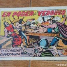 Tebeos: EL ESPADACHIN ENMASCARADO Nº 22 EDITORIAL VALENCIANA ORIGINAL. Lote 197604222