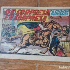 Tebeos: EL ESPADACHIN ENMASCARADO Nº 34 EDITORIAL VALENCIANA ORIGINAL. Lote 197738413