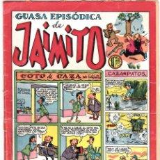 Livros de Banda Desenhada: JAIMITO , GUASA EPISODICA , NUMERO 127 , VALENCIANA 1945. Lote 197891606