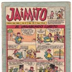 Tebeos: JAIMITO 376. VALENCIANA 1945.. Lote 197988730