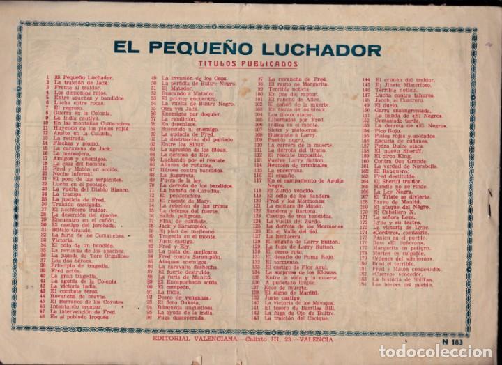 Tebeos: EL PEQUEÑO LUCHADOR 21 X 30 -Nº 183-ORIGINAL- - Foto 2 - 197994272
