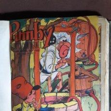 Tebeos: PUMBY ENCUADERNADO Nº 829 AL 848 EDITORIAL VALENCIANA 1974 AÑO XIX. Lote 198456415