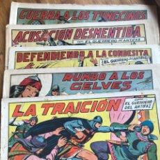 Tebeos: EL GUERRERO DEL ANTIFAZ CINCO NÚMEROS 97, 100, 104, 108 Y 154. Lote 198623481