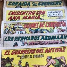 Tebeos: EL GUERRERO DEL ANTIFAZ CINCO NÚMEROS 106, 415, 442, 114 Y 592. Lote 198623652